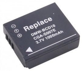 Panasonic CGA-S007 / CGA-S007E / DMW-BCD10 (1100mAh)  utángyártott akku