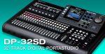 Tascam DP-32SD digitális Portastúdió, 8 sáv felvétel és 32 lejátszás