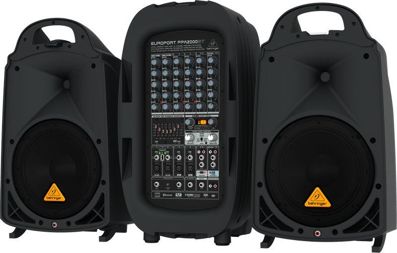 Behringer PPA2000BT EUROPORT hordozható mobil hangosító szett
