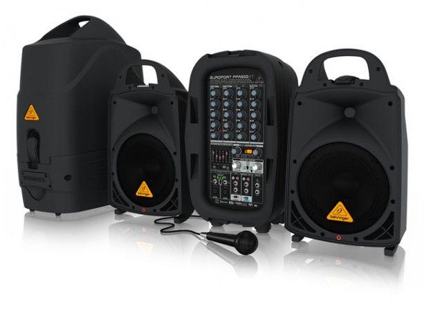 Behringer PPA500BT EUROPORT hordozható mobil hangosító szett