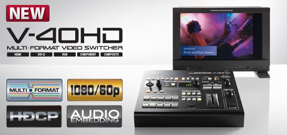 Roland V-40hd Multi-format Video Switcher Manual