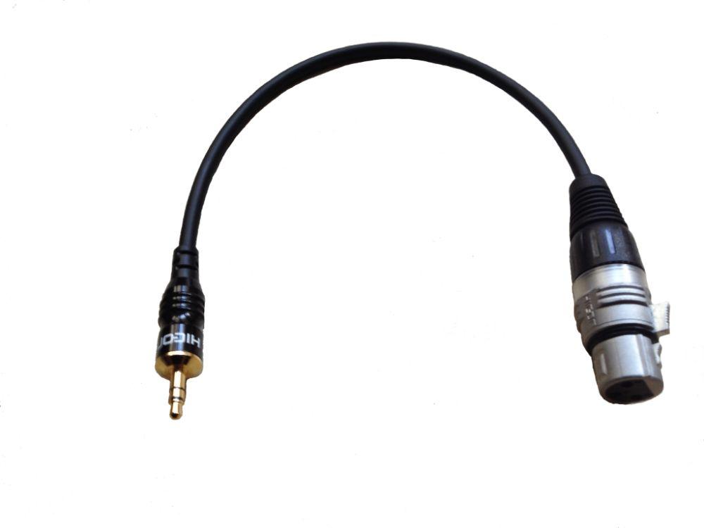 XLR alj-3,5mm Jack dugó árnyékolt mikrofon kábel 30cm