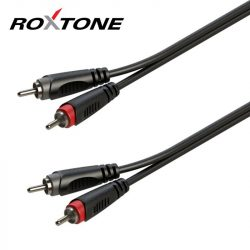 Roxtone 2 RCA - 2 RCA 6m szerelt prémium kábel
