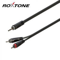 Roxtone 3,5mm sztereó jack - 2 x RCA szerelt kábel 3 méter