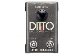 TC Helicon Ditto Mic Looper ének és akusztikus hangszerekhez pedál