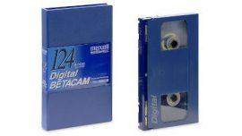 Maxell B-D124L Digital Betacam kezetta
