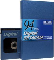 Maxell B-D94L Digital Betacam kezetta