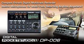Tascam DP-006 digitális rögzítő