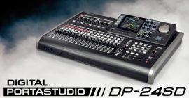 Tascam DP-24SD digitális 24 sávos munkaállomás/keverő, 8 sáv egyidejű felvétele