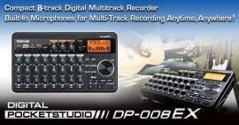 Tascam DP-008EX 8 sávos digitális rögzítő