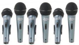 Superlux ECO88s dinamikus mikrofon szett kapcsolóval 6db