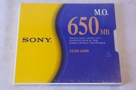 "Sony 5.25"" 650MB 512B/Sector MO Rewritable Optical Disk"