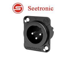 Seetronic MJ3F2C-B XLR papa, szerelhető, 3 pólusú, (fekete)