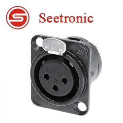 Seetronic MK3F2C-B XLR mama, szerelhető, 3 pólusú, (fekete)