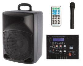 SAL PAB20A USB/SD/BT/MP3 akkus mobil hangosító RF mikrofonnal