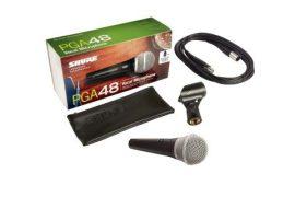 Shure PGA48 XLR dinamikus mikrofon + kábel
