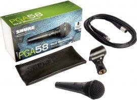 Shure PGA58 XLR dinamikus mikrofon + kábel