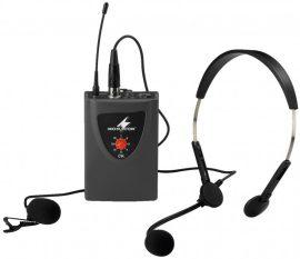 Monacor TXA-100HSE zsebadó fej- és csíptetős mikrofonnal