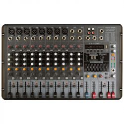 Voice-Kraft VK-PM1208 Powermixer, 2x250W/4Ohm, MP3 lejátszó
