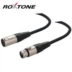 Roxtone XLR-XLR árnyékolt mikrofon kábel 1m