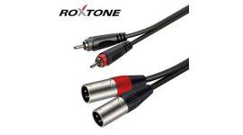 Roxtone 2x XLR dugó - 2x RCA dugó szerelt kábel 3m